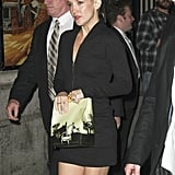 Kate Hudson wore her hair up in a bun to attend an SNL party in NYC.