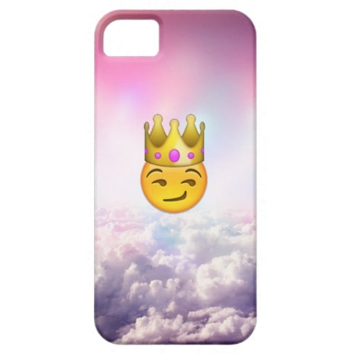 Smirk Crown Emoji Case For iPhone 5 Only ($40)