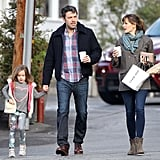 On Wednesday, Ben Affleck and Jennifer Garner ran errands with their daughter Seraphina in LA.