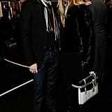 Rachel Zoe's husband, Rodger Berman, joined her for a handful of shows.
