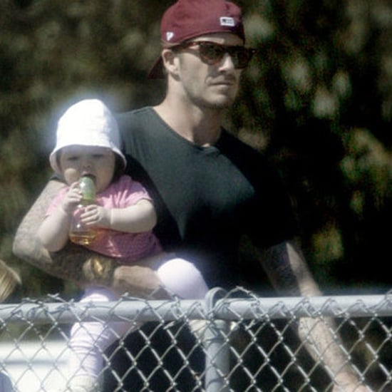 David Beckham With Harper Pictures Brooklyn Horseback Riding