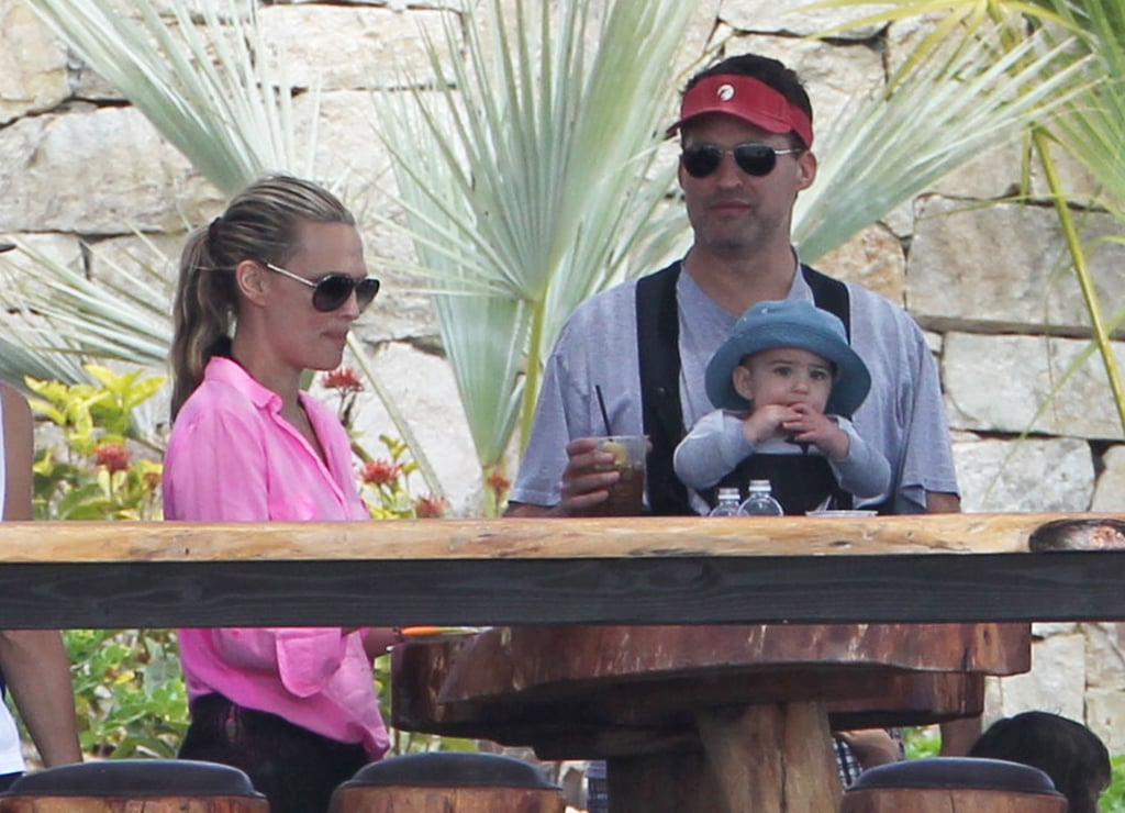 Molly Sims and her husband, Scott Stuber, relaxed in Mexico with their son, Brooks.