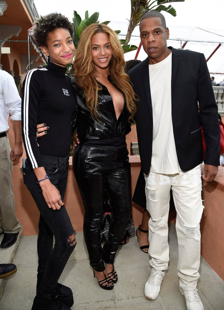 Beyonce and Kim Kardashian at Roc Nation Grammy Brunch