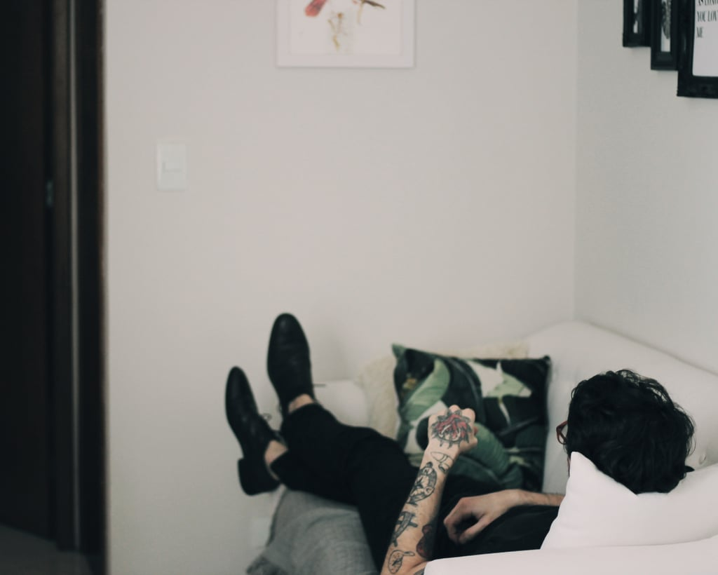 Making yourself too comfortable in someone else's home.