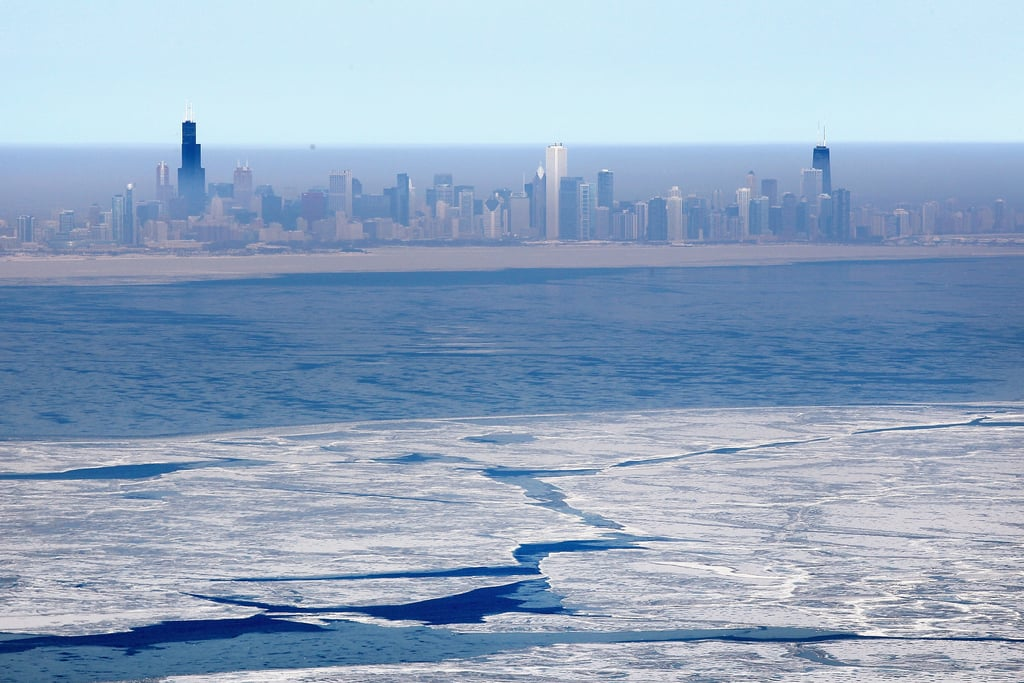 Chilly temperatures and major snowstorms have left Lake Michigan covered in ice.