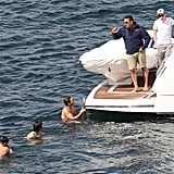 One Direction members took a swim while hanging out in Australia.