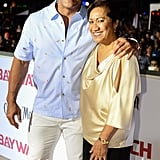 Dwayne Johnson and His Mom Ata Pictures