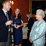 The Queen and Freddie Flintoff