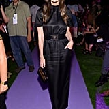 Lily Aldridge at the Brandon Maxwell New York Fashion Week Show