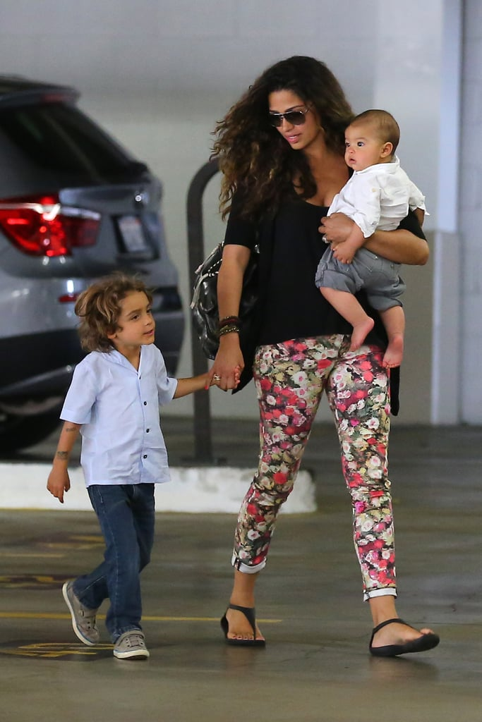 Camila Alves brought her sons, Levi and Livingston McConaughey, to an appointment in LA.