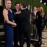 Chelsea Handler arrived at the Vanity Fair Oscar party on Sunday night.