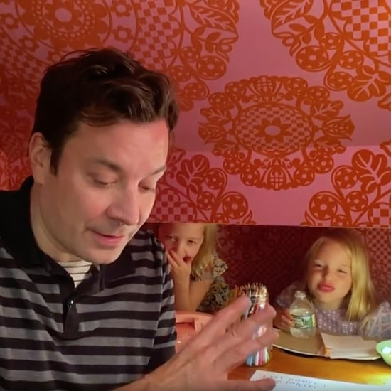 Jimmy Fallon's Daughters Heckle Him on Tonight Show at Home