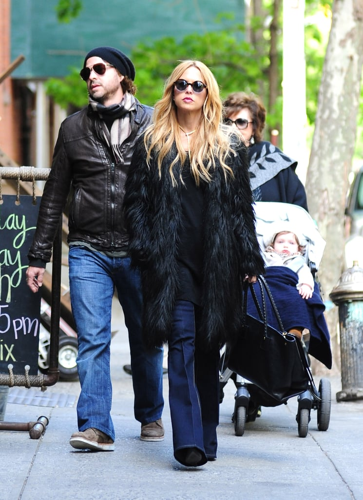 Rachel Zoe led the way through NYC with her family close behind.