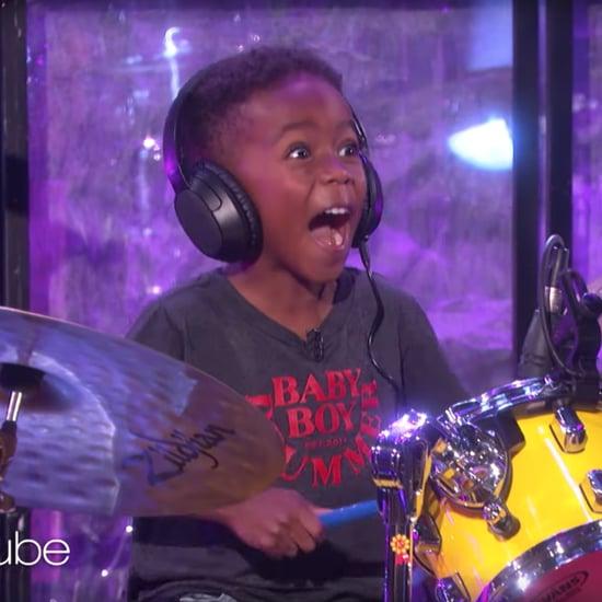 Lenny Kravitz Surprises Little Kid Drumming Video