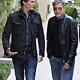 George Clooney met up with pal Rande Gerber for lunch in LA.