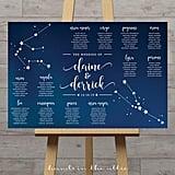 Constellation Wedding Table Plan