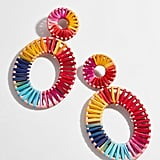 Mini Kiera Raffia Statement Earrings