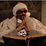 Snoop Dogg was all dressed up in festive gear as he prepared to tell a Christmas story.