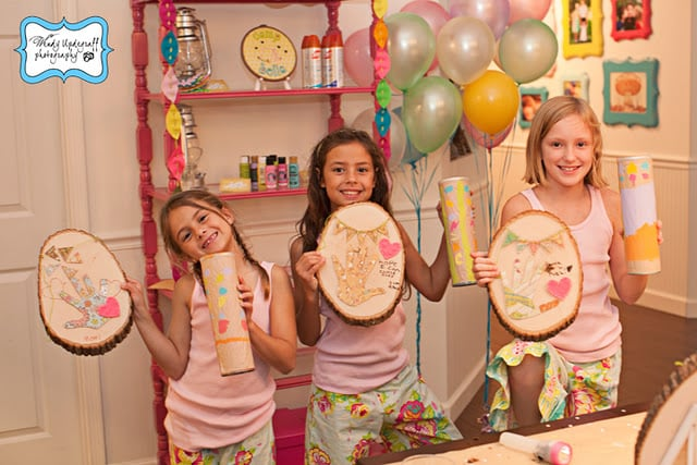 Girlie Arts and Crafts Party Ideas
