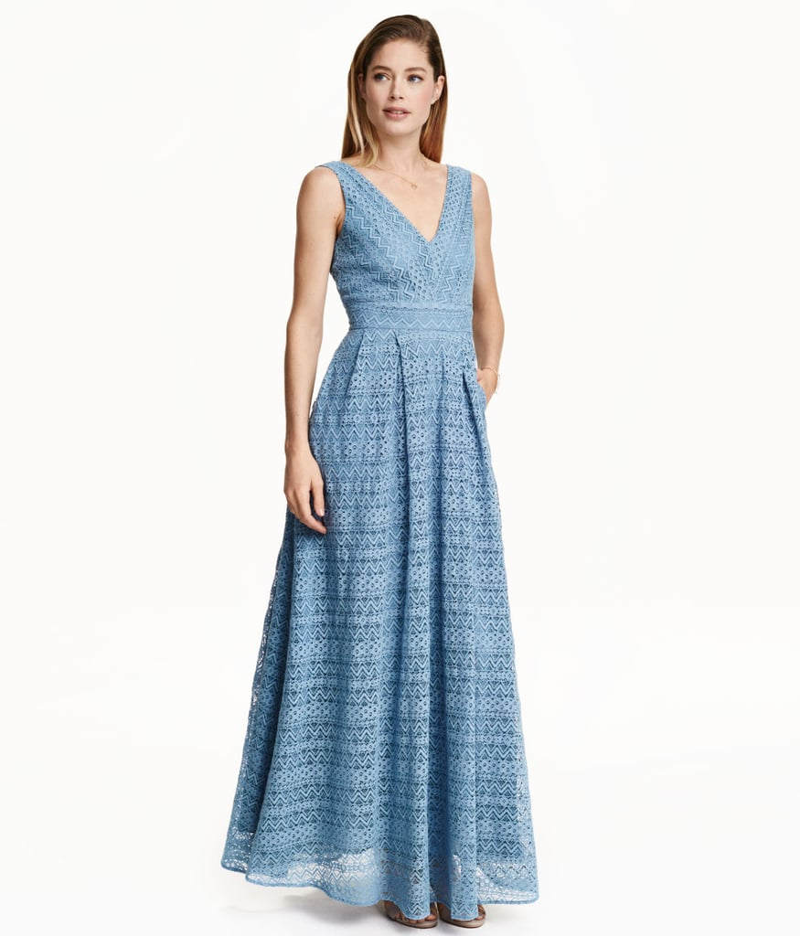 H&M Lace Maxi Dress ($129) | Affordable Wedding Guest Dresses ...