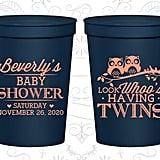 Twins Baby Shower Cups