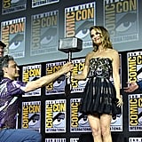 Pictured: Kevin Feige, Taika Waititi, Natalie Portman, and Chris Hemsworth at San Diego Comic-Con.