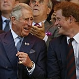 Prince Harry and Prince Charles Pictures