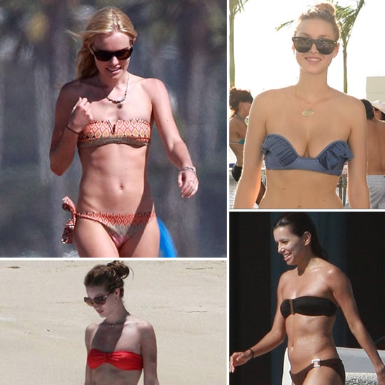 See and Shop the Top Celebrity Strapless Bandeau Bikinis!