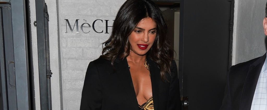 Priyanka Chopra's Low-Cut Versace Dress