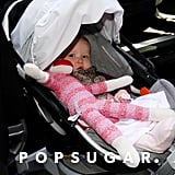 Haven Warren was tucked into her stroller headed out of the hotel with mom Jessica Alba in NYC.