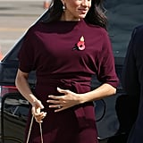‎Meghan Markle Carrying a Cuyana Mini Chain Saddle Bag in Quartz