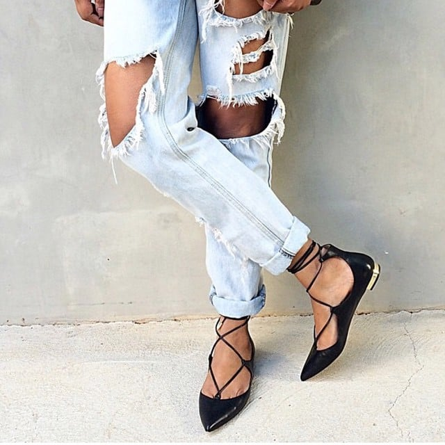They polish off distressed denim, but they're so much more comfortable than heels.