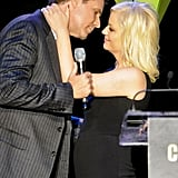 Amy Poehler and Will Ferrell got silly as they shared a near kiss.