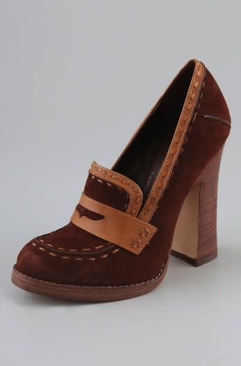Jean-Michel Cazabat Lidia Suede High Heel Loafers ($295)
