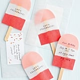 No-Melt Pop Invitations