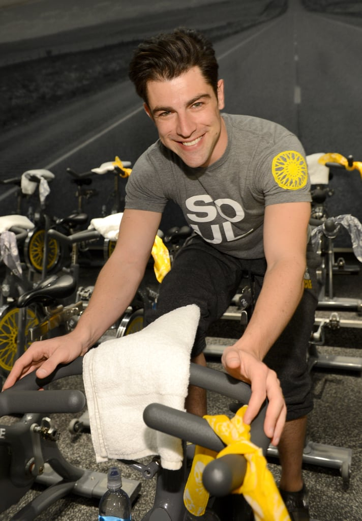 Max Greenfield taught a SoulCycle class in LA.