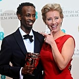 Barkhad Abdi and Emma Thompson, 2014