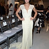 Leigh Lezark looked as lovely as the runway models in a Zac Posen gown for the designer's Spring show.