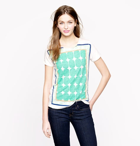 J.Crew's pop art t-shirt ($50) means even your most casual look will get a splash of the season's color and print.
