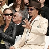 Vanessa cheered Johnny on at his hand and footprint ceremony in Sep. 2005.