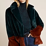 Marcena Colorblocked Faux Fur Jacket