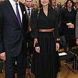 Queen Rania Wore a Wraparound Belt and Matching Bracelets in Germany