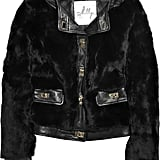 This leather and fur jacket is detailed with sweet gold twist-lock fastenings, evoking an old-school toggle feel. Milly Rabbit and Leather Jacket ($345, originally $1,150)