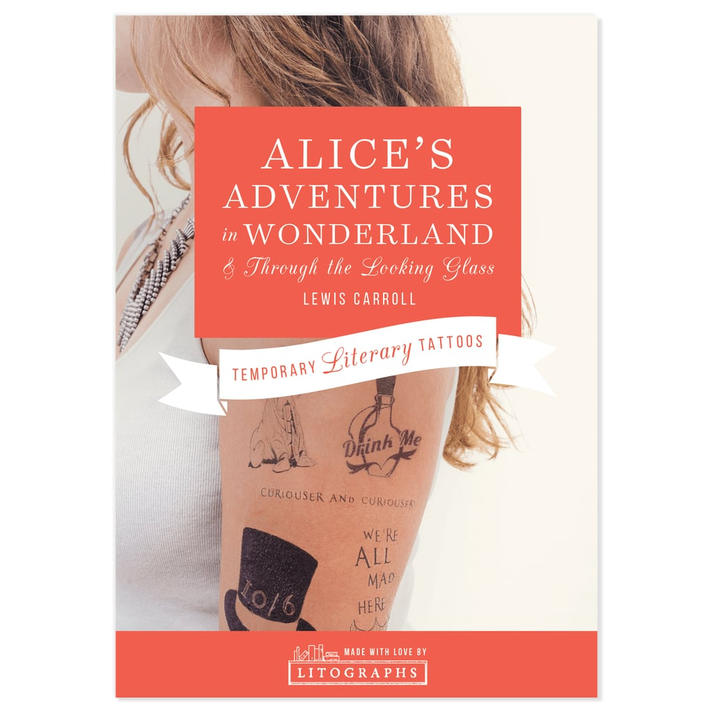 Litographs Alice's Adventures in Wonderland Temporary Tattoos