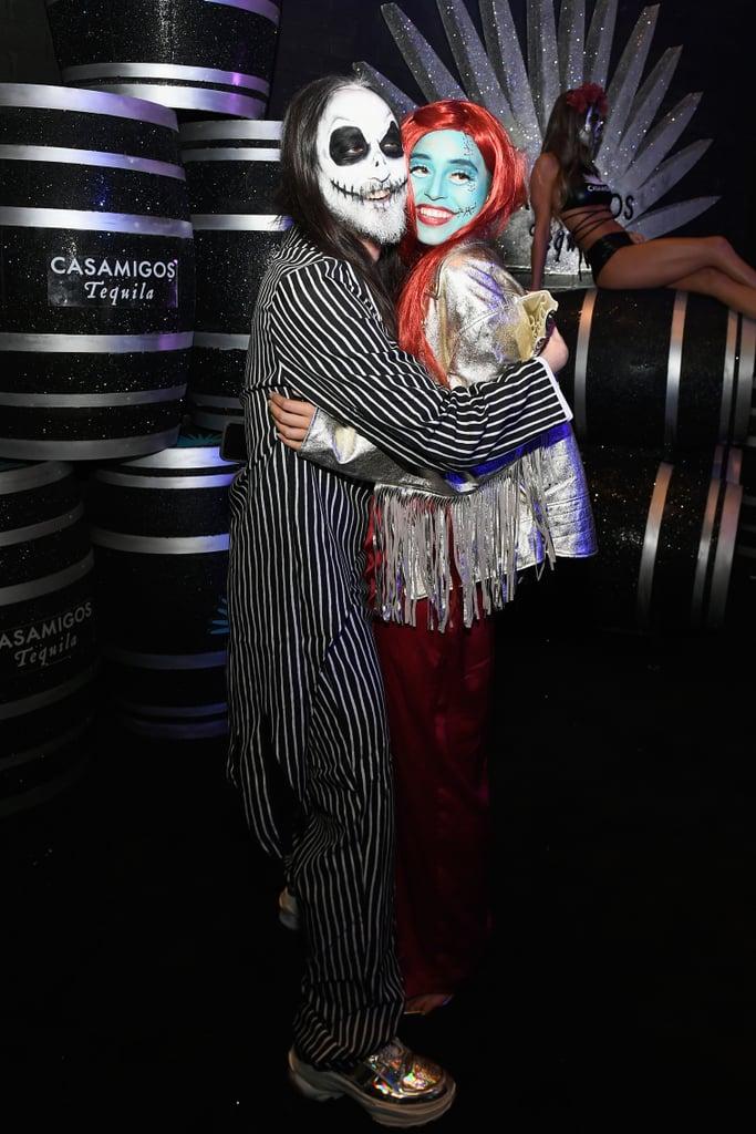 Steve Aoki and Nicole Zimmermann as Jack Skellington and Sally