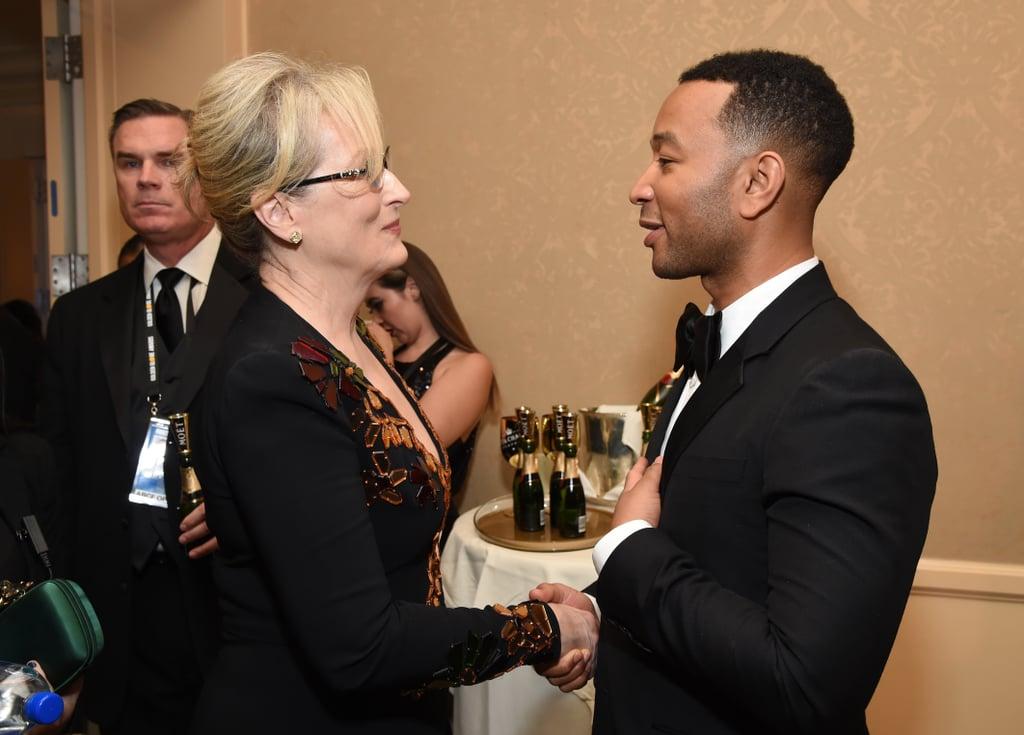 Pictured: John Legend and Meryl Streep