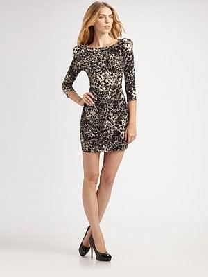 ABS Animal Print Dress - $245.00 at Saks.com