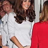 Kate Middleton was happy to visit a hospital in London.