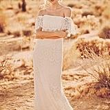 Off-The-Shoulder Eyelash Lace Sheath Wedding Dress