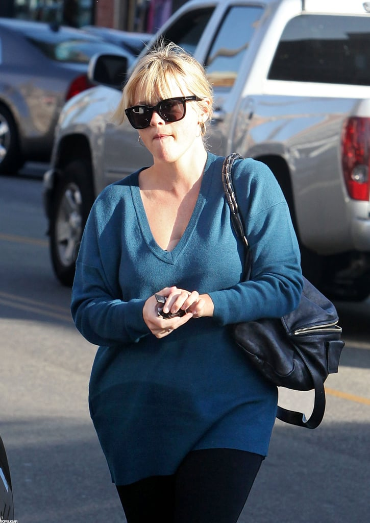 Reese Witherspoon stepped out in a sweater in LA.